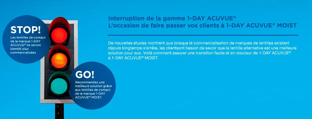 L arrêt de la gamme 1-DAY ACUVUE® permet à vos clients de passer à 1-DAY  ACUVUE®MOIST d7de21301f0f